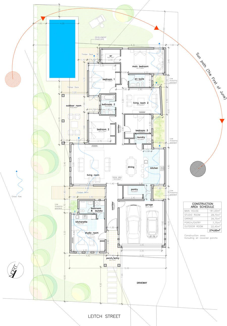 Single Floor House Plan And Elevation : Design floor plan and elevation for single storey house