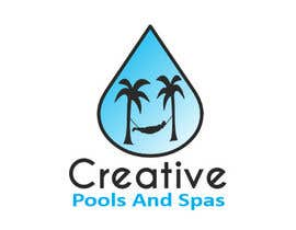 nº 16 pour Design a Modern Logo for Creative Pools and Spas par riadbdkst