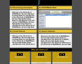 #18 for Design a Website Mockup for welloffbeats.com - repost by mishok123