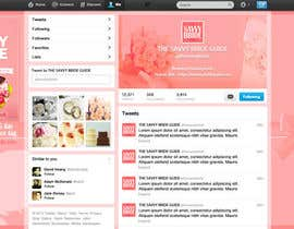 #8 untuk Design a Twitter background for a wedding eBook oleh DanaDouqa