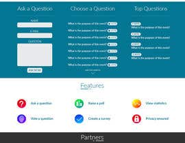 #16 for Design a web applicatoin (PSD) for interactive Q&A sessions -  askvote.io by hassan530045