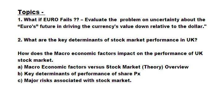 stock market dissertation topics