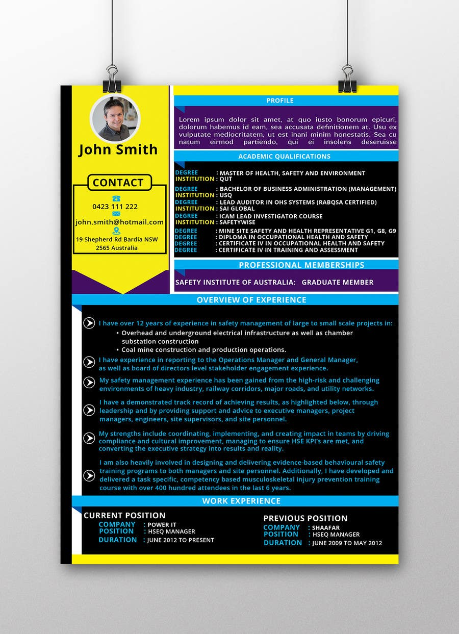 Entry #3 by mahabubkhl for Creative Resume Design Layout
