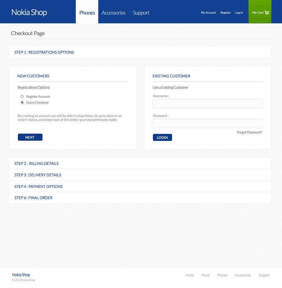 #103 for Design a Website Mockup for Nokia Online Shop - repost by patil1987