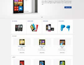#35 for Design a Website Mockup for Nokia Online Shop - repost af Pavithranmm