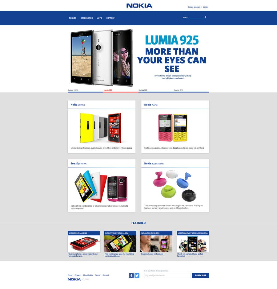 #12 for Design a Website Mockup for Nokia Online Shop - repost by hipnotyka