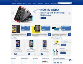#78 untuk Design a Website Mockup for Nokia Online Shop - repost oleh ProliSoft