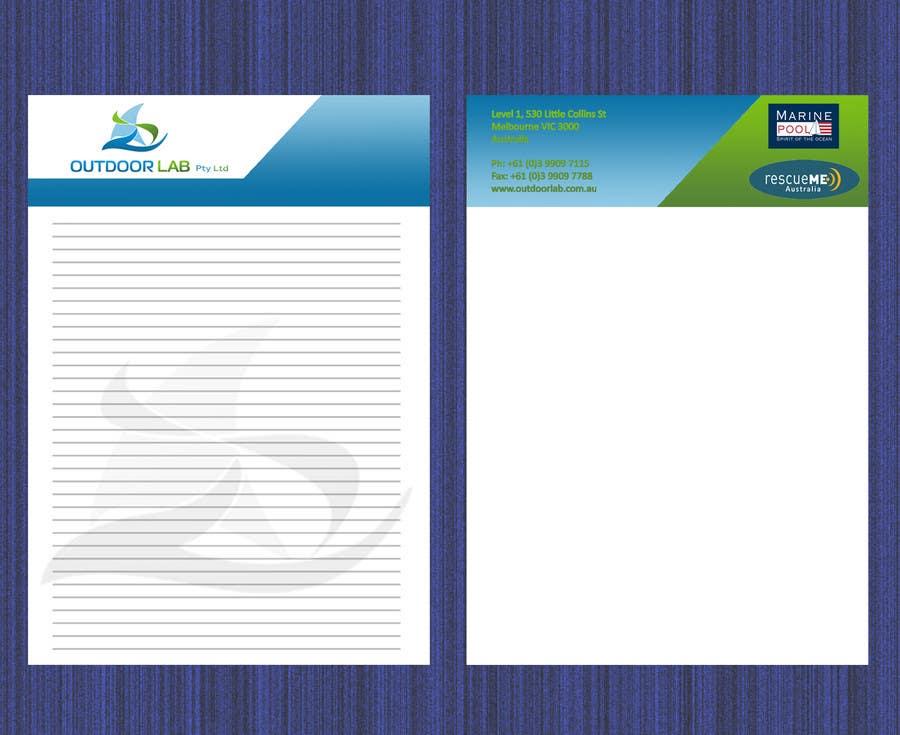 Penyertaan Peraduan #11 untuk Design some Stationery for OutdoorLab Pty Ltd