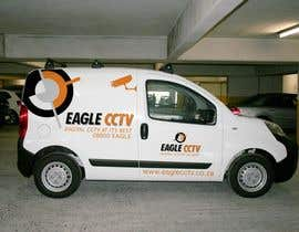 #7 para EagleCCTV Vehicle Branding Design por IAlfonso
