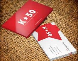 Nro 19 kilpailuun Business cards design for K50 (Разработка визитных карточек) käyttäjältä pankaj86