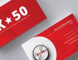 Nro 37 kilpailuun Business cards design for K50 (Разработка визитных карточек) käyttäjältä pankaj86
