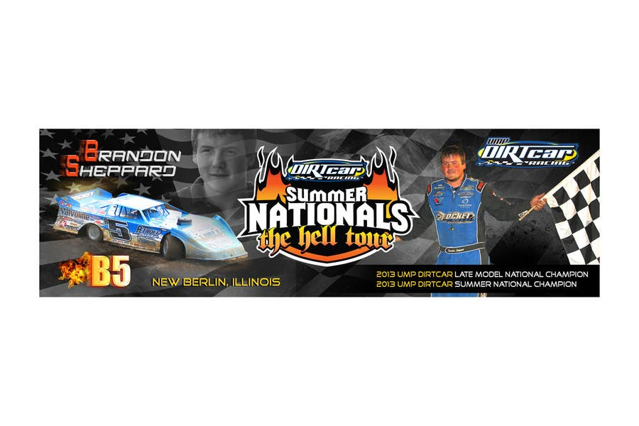 Konkurrenceindlæg #16 for Design a Banner for Brandon Sheppard Racing
