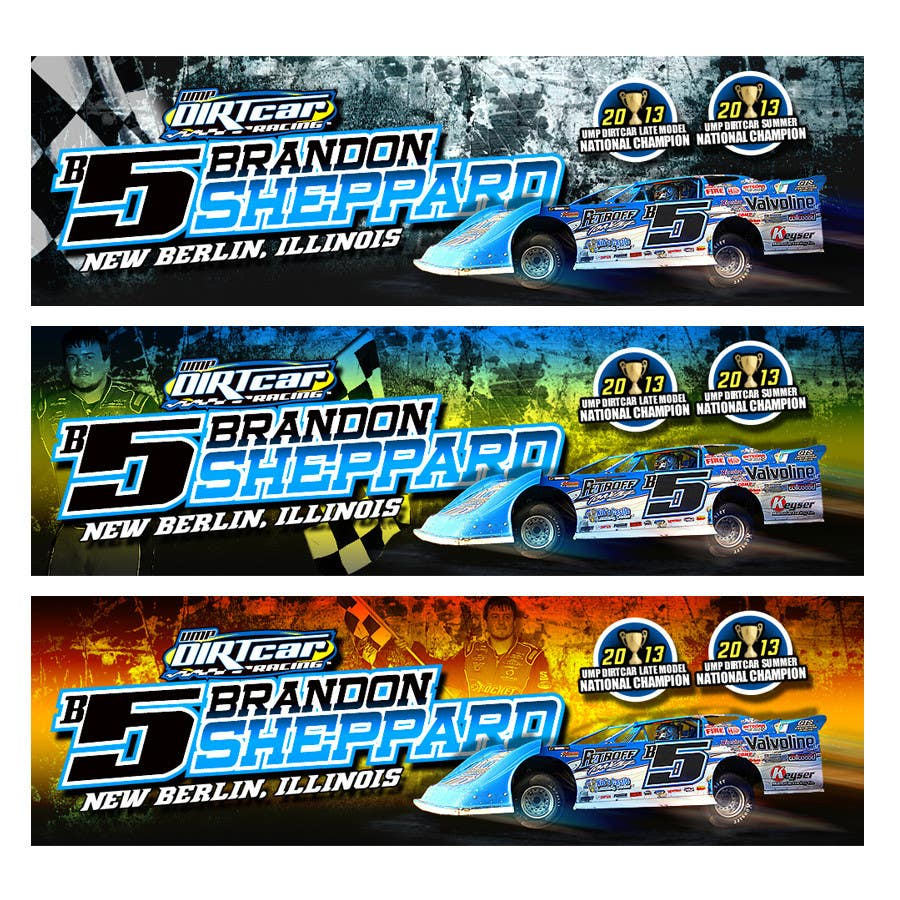 Konkurrenceindlæg #8 for Design a Banner for Brandon Sheppard Racing