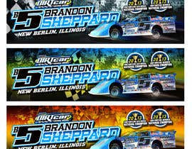 #8 untuk Design a Banner for Brandon Sheppard Racing oleh b74design