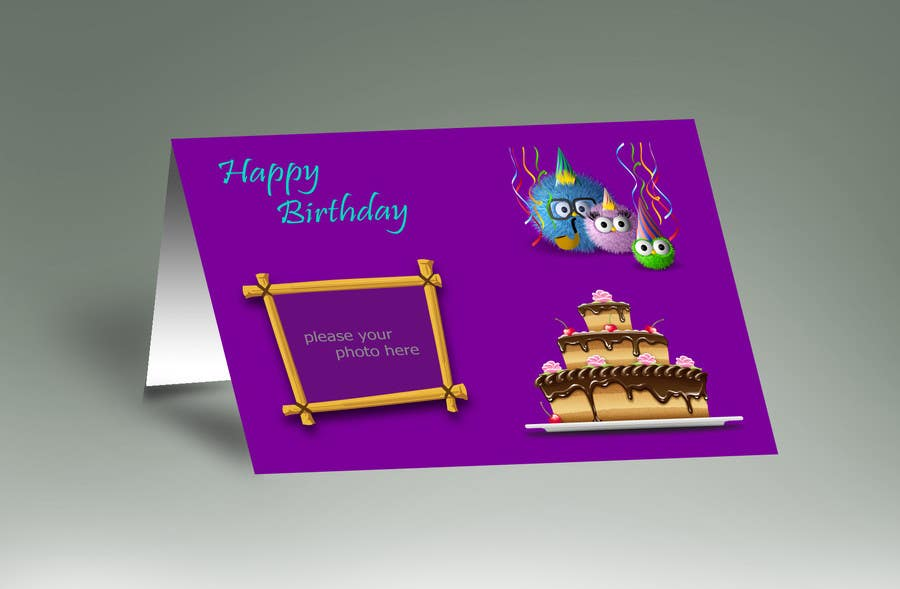 #73 for Design some Stationery for Childs Birthday Photo Card by mdmonirhosencit