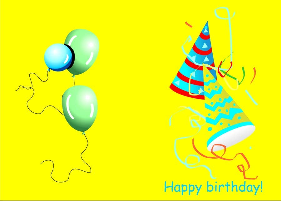 #61 for Design some Stationery for Childs Birthday Photo Card by loredana11