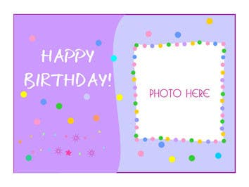 #71 for Design some Stationery for Childs Birthday Photo Card by primavaradin07