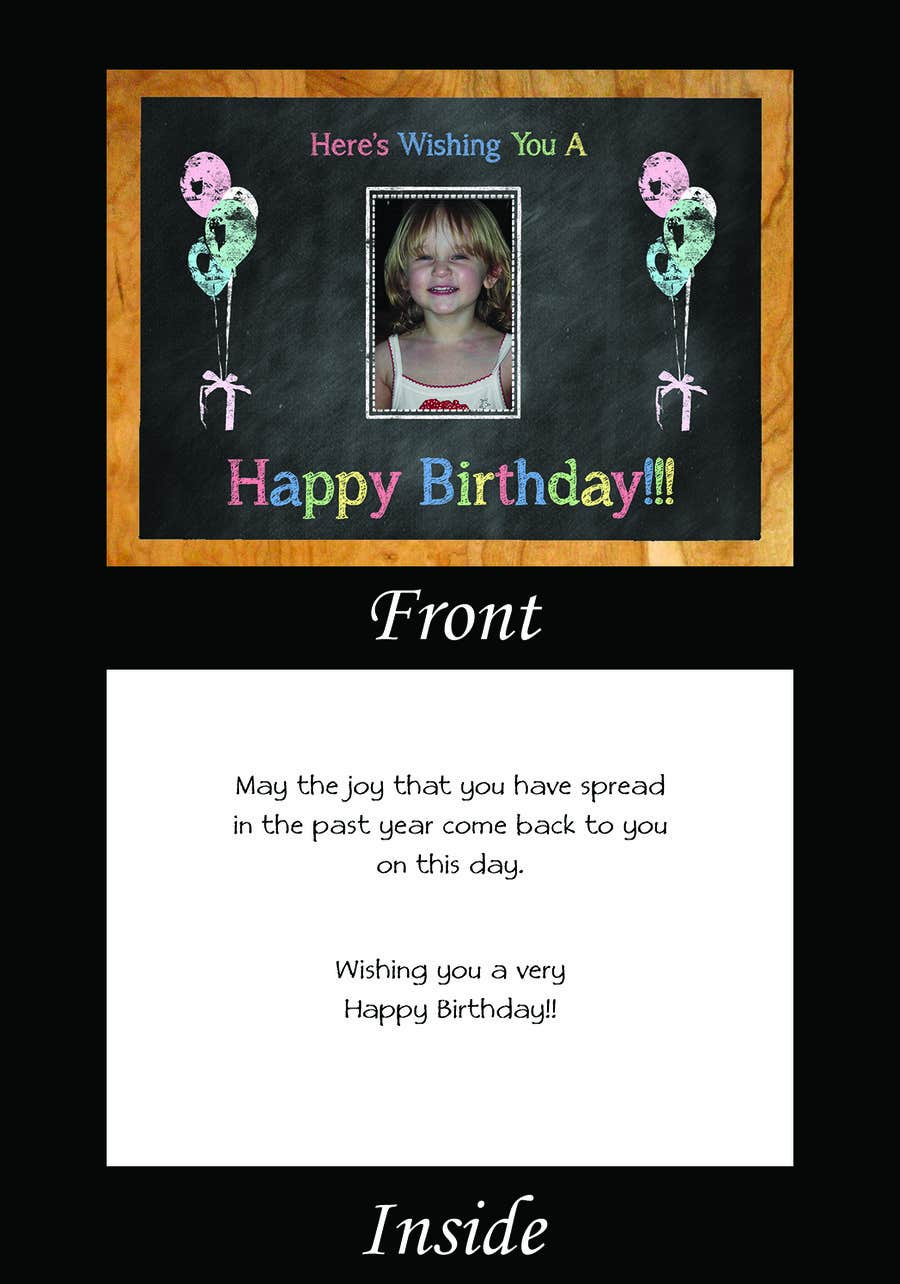 #66 for Design some Stationery for Childs Birthday Photo Card by LLInnovations