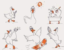 #12 para Draw a goose in several attitudes por umby