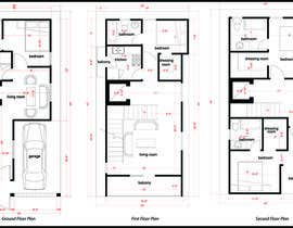 #5 dla House Plan for a small space: Ground Floor + 2 floors przez alysebak
