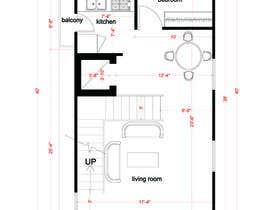#8 for House Plan for a small space: Ground Floor + 2 floors by alysebak