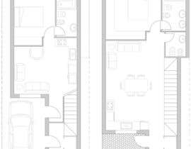#12 dla House Plan for a small space: Ground Floor + 2 floors przez miguel1900