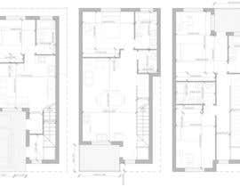 #21 for House Plan for a small space: Ground Floor + 2 floors by miguel1900