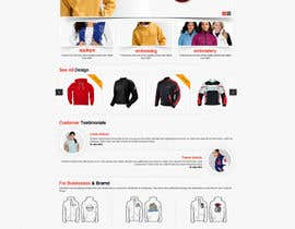 nº 3 pour Design a Website Mockup for one page website domain - www.CustomizedJacket.com par ProliSoft