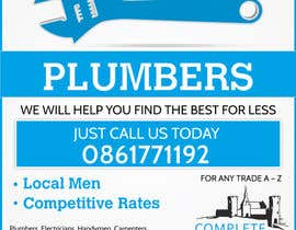#4 cho design 3 a5 leaflets for tradesmen such as plumbers bởi blackd51th