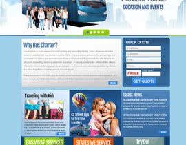 #4 para Design a Website and inside pages Mockup and Logo for Bus Rental Company por MagicalDesigner