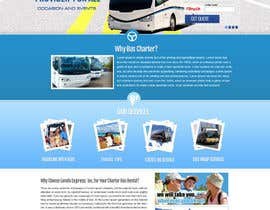 #18 para Design a Website and inside pages Mockup and Logo for Bus Rental Company por MagicalDesigner