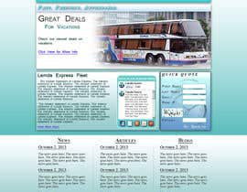 #3 untuk Design a Website and inside pages Mockup and Logo for Bus Rental Company oleh ScottContina