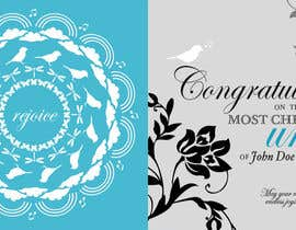 #9 para Design some Stationery for a Wedding Greeting Card por momatoes