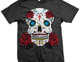 #32 para Design a T-Shirt for day of the dead por triharyoko