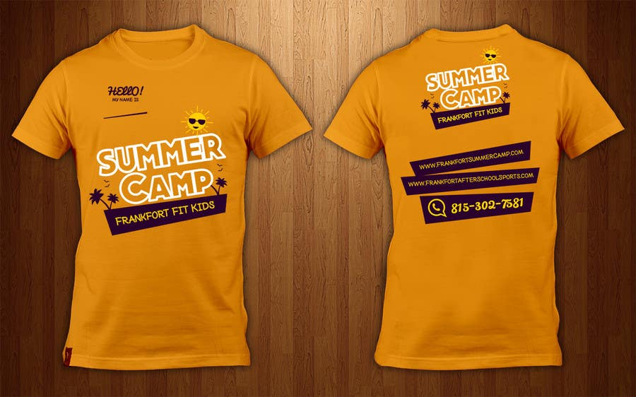 Summer Camp Shirt Designs | Entry 72 By Shadaopartners For Kids Summer Camp T Shirt Design