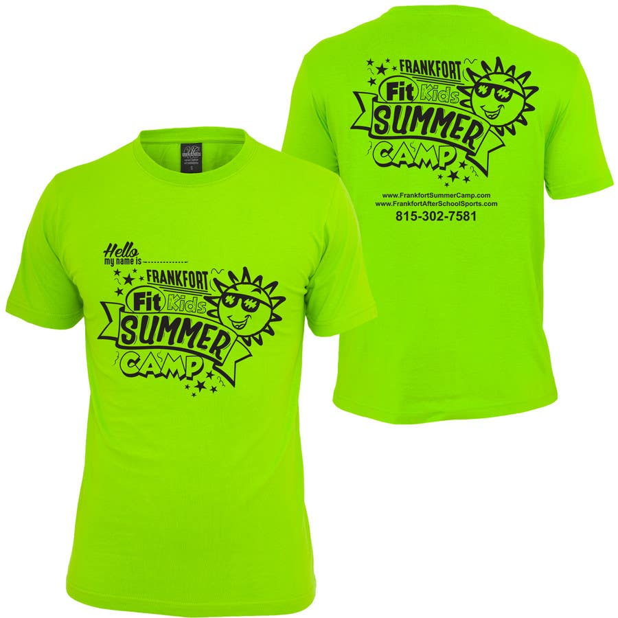 kids summer camp t shirt design freelancer