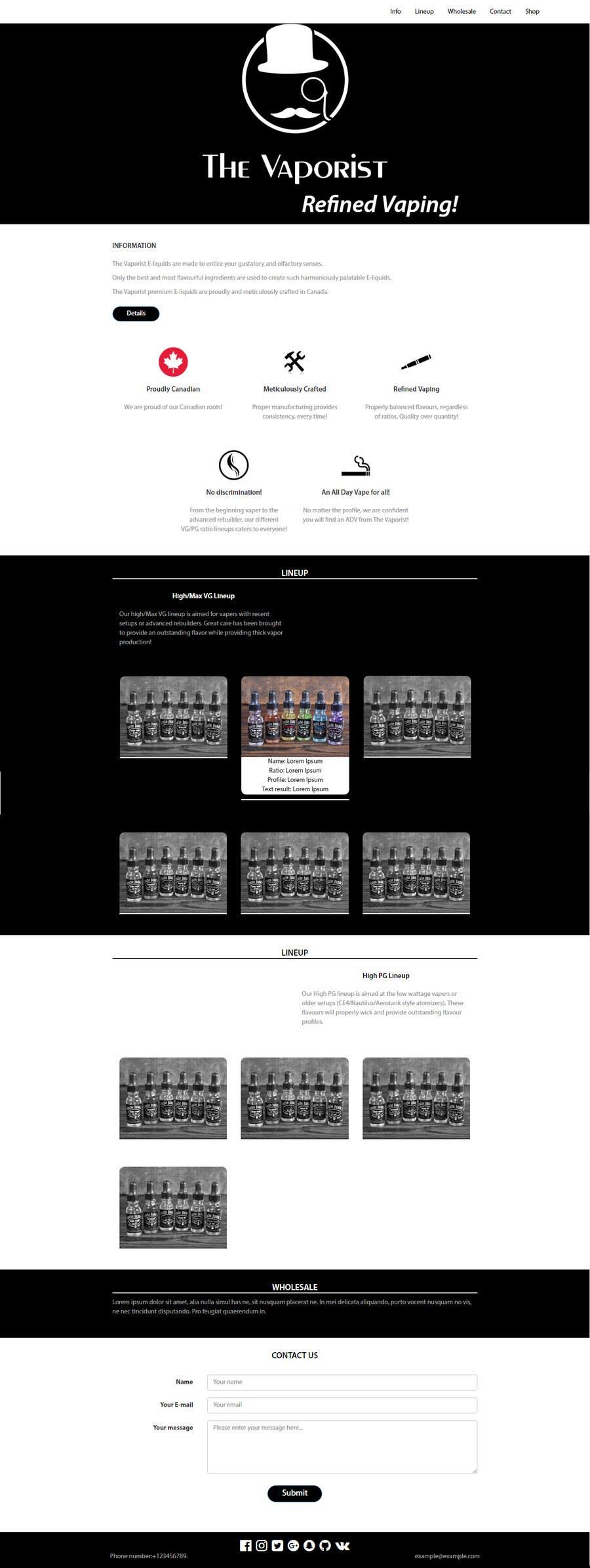 ผลงานการประกวด #                                        12                                      สำหรับ                                         Design a single Bootstrap wordpress page
