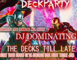 #16 for Super Hero Deck Party - A2 Poster/DL Flyer/FB cover photo by jeevazartz