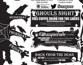 #12 untuk Halloween Flyer annoucing specials for Cigar/Hookah Lounge oleh GreenworksInc