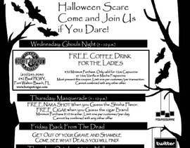 #8 untuk Halloween Flyer annoucing specials for Cigar/Hookah Lounge oleh nattia
