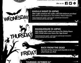 #13 cho Halloween Flyer annoucing specials for Cigar/Hookah Lounge bởi dsee