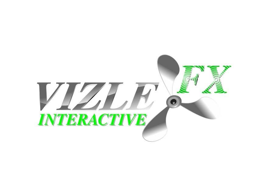 Kilpailutyö #133 kilpailussa Logo Design for VIZLEFX Interactive