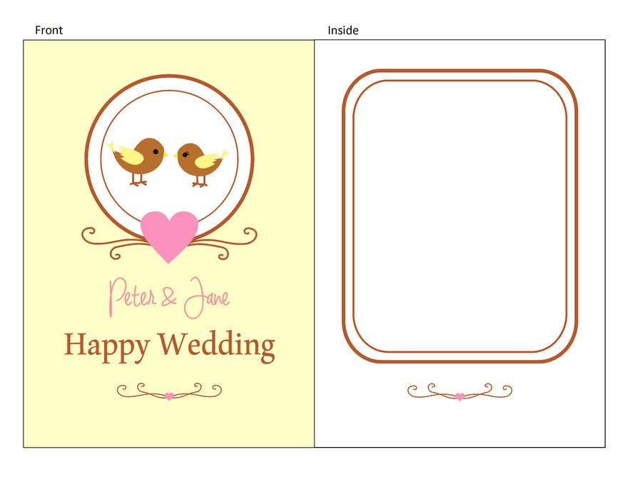 #32 for Design some Stationery for a Wedding Greeting Card - repost by rakhmakurnia