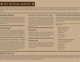 #10 for Design In Room Menu for Hotel by jhess31