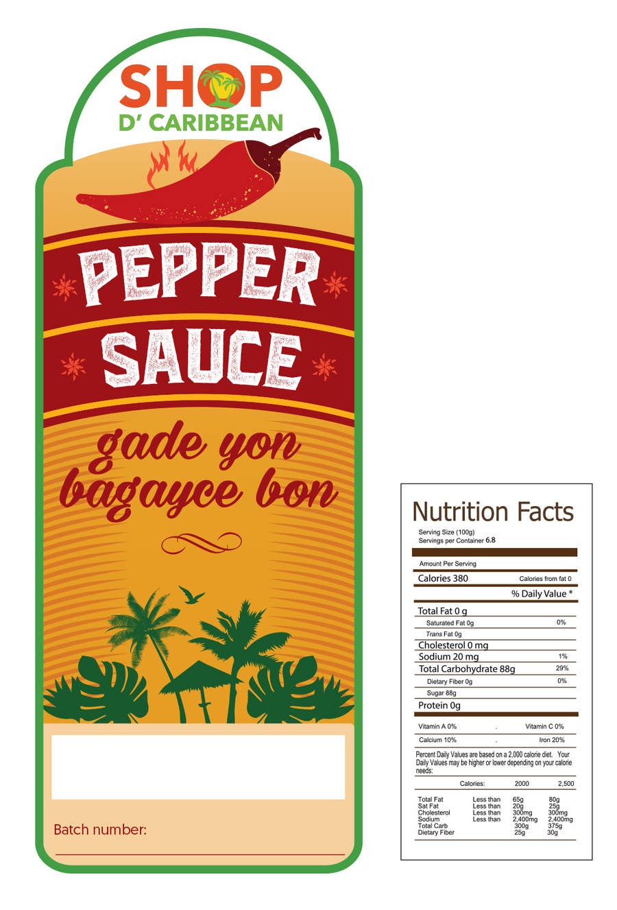 Contest Entry #                                        7                                      for                                         Design a Pepper Sauce Label
