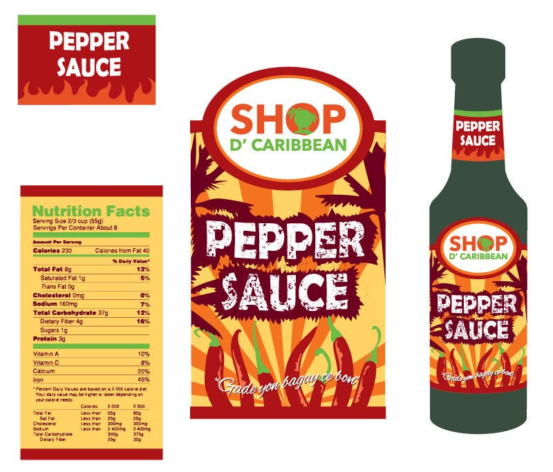 Contest Entry #                                        9                                      for                                         Design a Pepper Sauce Label