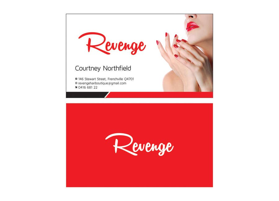 #5 for Design some Business Cards for Revenge by ajdezignz
