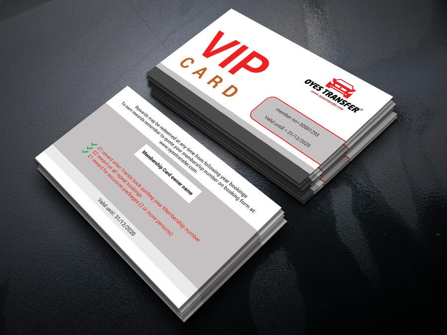 Contest Entry #                                        3                                      for                                         Membership Plastic Card