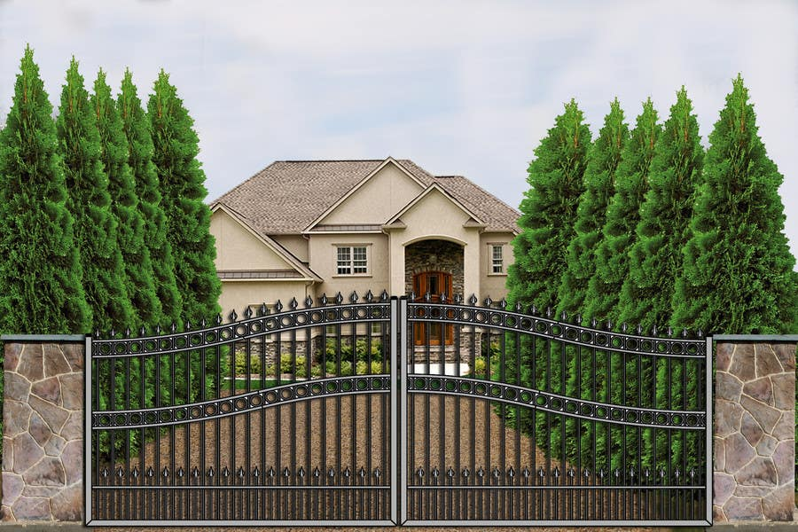 Contest Entry #                                        2                                      for                                         Driveway Gate Design Photoshop