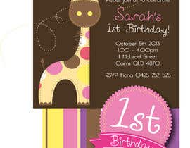 #31 for Design some Stationery for Baby 1st Birthday Invitation af asheedesign